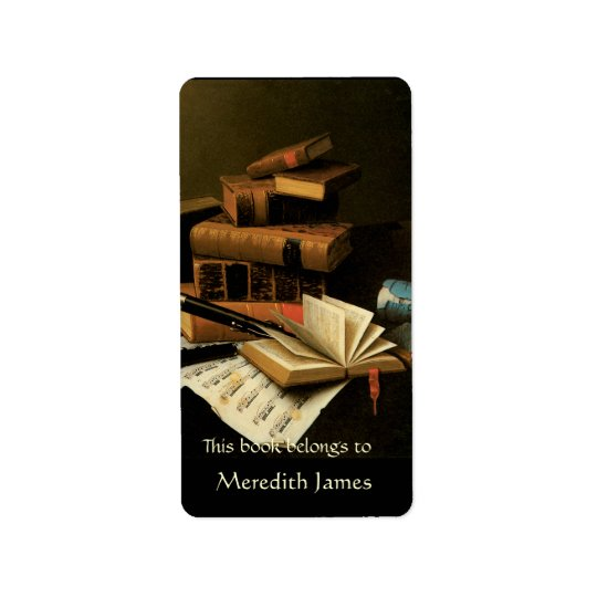 Music and Books  Bookplate Address Label
