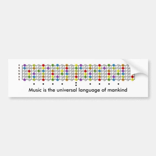Music and Guitar Bumper Sticker