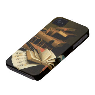 Music and Literature by William Harnett iPhone 4 Cases