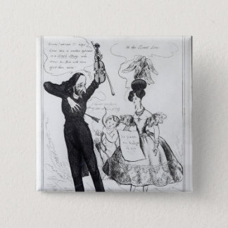 Music and Love or Two Rival Performers 15 Cm Square Badge