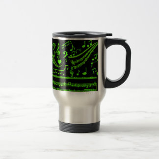 Music and me,In Green_ Travel Mug