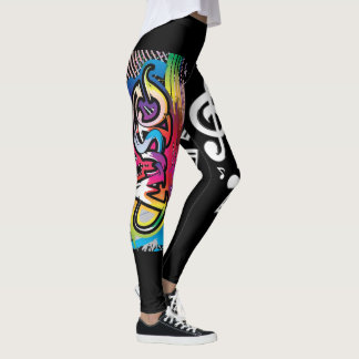 Music and Music Notes Abstract Leggings