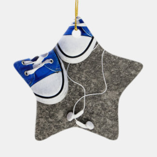 Music and sneakers ceramic star decoration