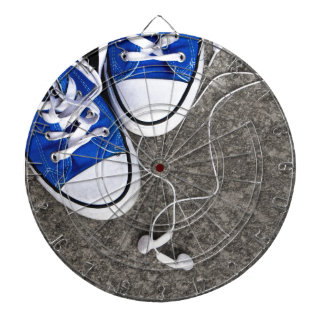 Music and sneakers dartboard