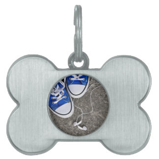 Music and sneakers pet tags