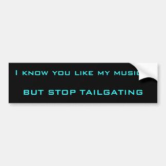 Music and Tailgatin Bumper Sticker