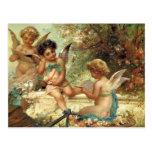Music Angels by Hans Zatzka, Victorian Art Postcards