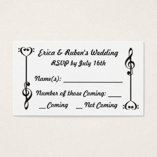 Music Arrow RSVP Business Card