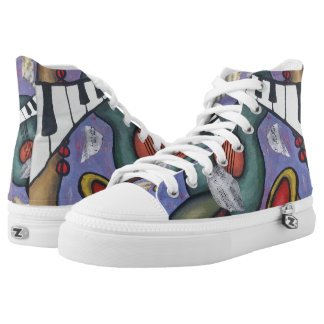 Music Art | High Top Sneakers