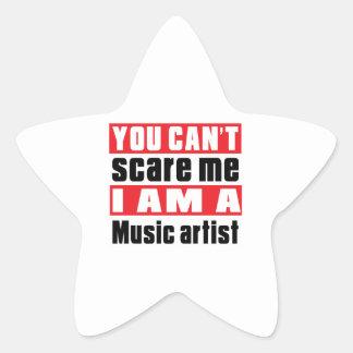 Music artist (occupation) scare designs star sticker