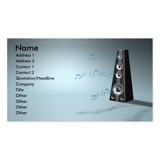 Music b business card template zazzle for Music business card template