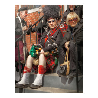 Music - Bag Pipes - Somerville, NJ - Piper resting Personalized Flyer