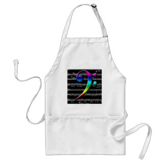 Music Bass Clef Rainbow Gifts Standard Apron