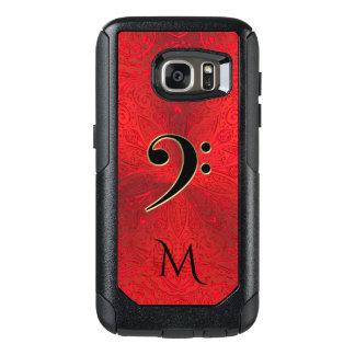 Music Bass Clef Red  Mandala Otterbox Galaxy Case