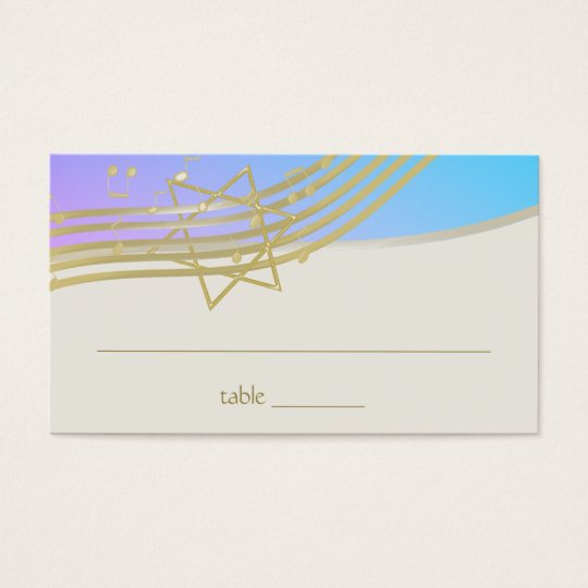 Music Bat Mitzvah Seating Card