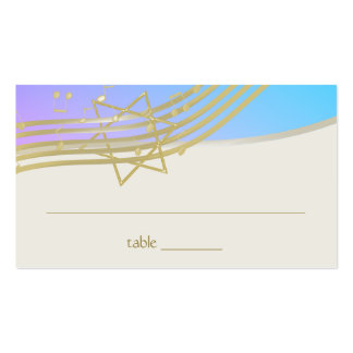 Music Bat Mitzvah Seating Card Pack Of Standard Business Cards