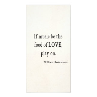 Music Be the Food of Love Shakespeare Quote Quotes Customized Photo Card