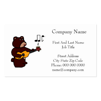 Music Bear Pack Of Standard Business Cards