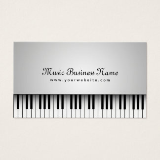 Music Beautiful White Grand Piano Business Card