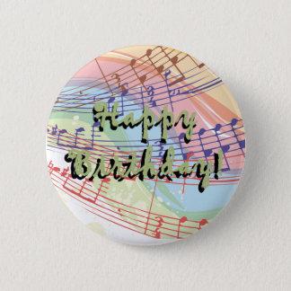 Music Birthday Button