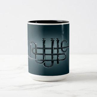 Music Black 15 oz Two-Tone Mug