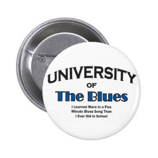 music-blues 6 cm round badge