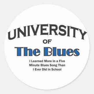 music-blues round sticker