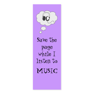 music bookmark pack of skinny business cards