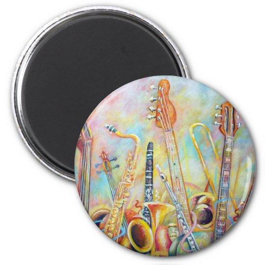 Music Bouquet 6 Cm Round Magnet