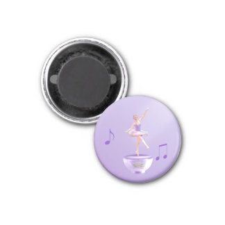 Music Box Ballerina Customizable Magnet