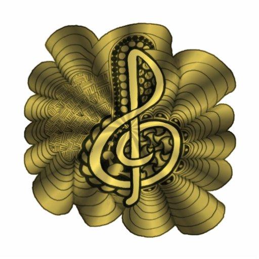 Music Brilliant Gold Original Art Treble Clef Acrylic Cut Outs