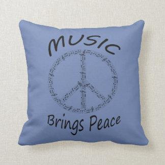 Music bring Peace throw pillow