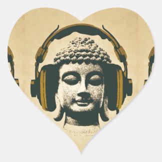 Music buddha sticker