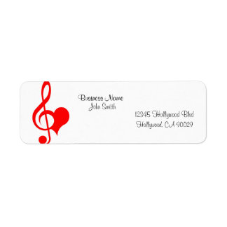 Music Business Address Label