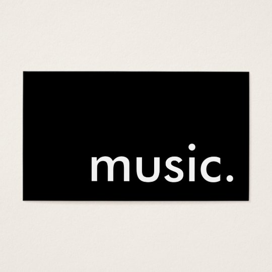 music. business card