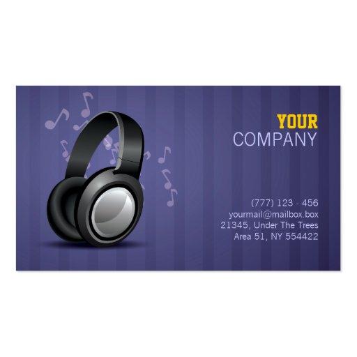 music business card