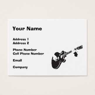 Music Business Card - Black Guitar