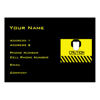 Music Business Card CAUTION Excessive Sound Levels