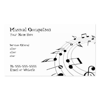 Music business  card pack of standard business cards