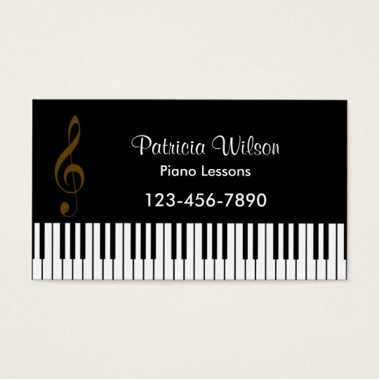 Music Business Card (White Back)