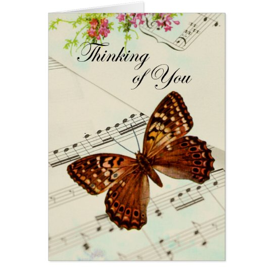 Music Butterfly Thinking of You Card