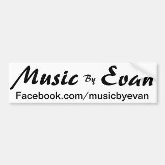 Music By Evan Bumper Sticker Facebook