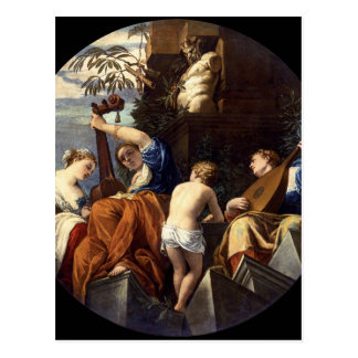 Music by Paolo Veronese Postcard