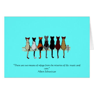 Music Cats Greeting Card