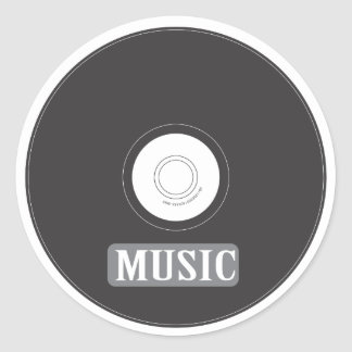 Music CD Classic Round Sticker