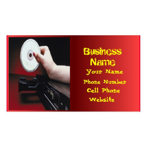 Music CD player Business Cards