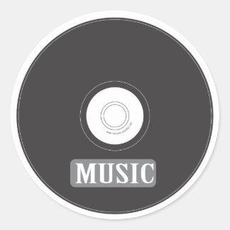Music CD Round Sticker