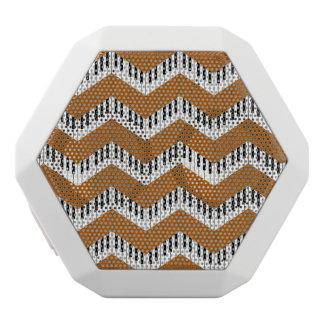 Music Chevron in Groovy Orange White Bluetooth Speaker