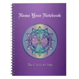 Music Circle of 5ths Mandala Custom Notebook