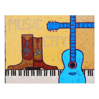 MUSIC CITY postcard